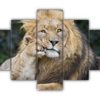 5 Panels King and Prince Multi Canvas Art