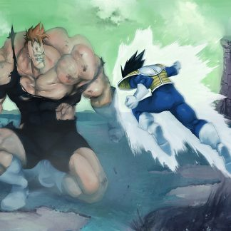 1 Panel Vegeta Vs Recoome Multi Canvas Art