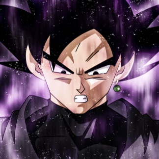 1 Panel Black Goku Multi Canvas Art