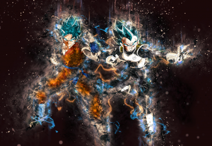 1 Panel Goku and Vegeta Multi Canvas Art