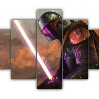 5 Panels Boba Fett Multi Canvas Art