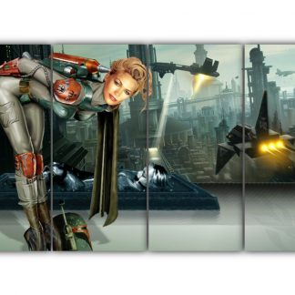 4 Panels Bobba Fett Reveals Multi Canvas Art