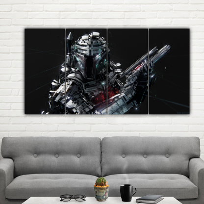 4 Panels Bounty Hunter Multi Canvas Art