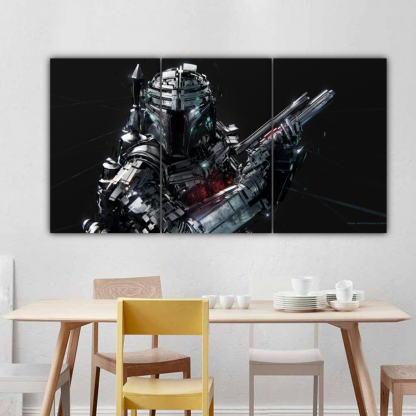 3 Panels Bounty Hunter Multi Canvas Art