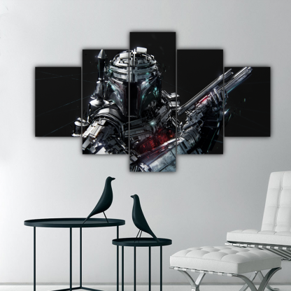 5 Panels Bounty Hunter Multi Canvas Art