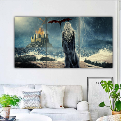 3 Panels Daenerys Targaryen Multi Canvas Art