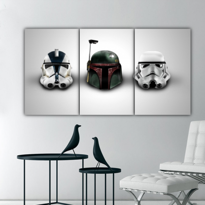 3 Panels Dark Side Sentinals Multi Canvas Art