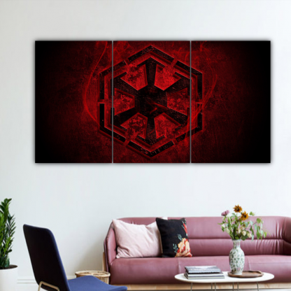 3 Panels Dark Side of The Force Multi Canvas Art