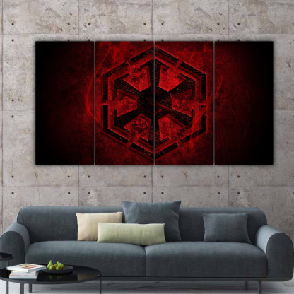4 Panels Dark Side of The Force Multi Canvas Art