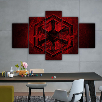 5 Panels Dark Side of The Force Multi Canvas Art