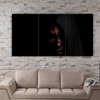 3 Panels Darth Maul Multi Canvas Art
