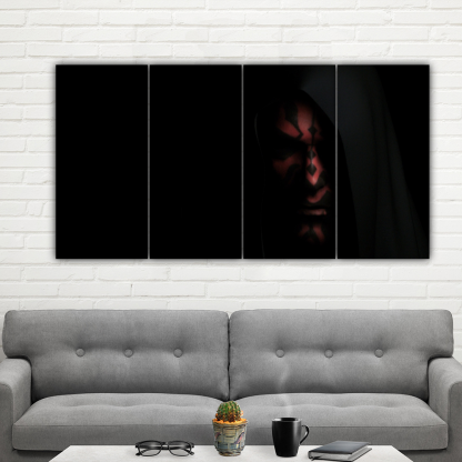 4 Panels Darth Maul Multi Canvas Art