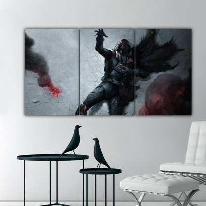 3 Panels Darth Vader Dying Multi Canvas Art