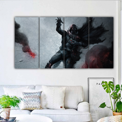 4 Panels Darth Vader Dying Multi Canvas Art