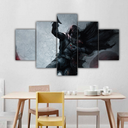 5 Panels Darth Vader Dying Multi Canvas Art