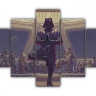 5 Panels Darth Vader doing yoga Multi Canvas Art