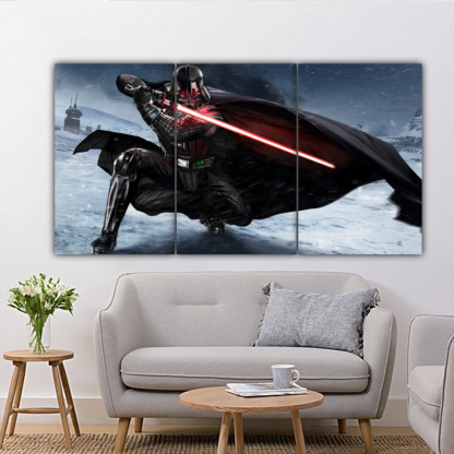 3 Panels Darth Vader of Star Wars Multi Canvas Art