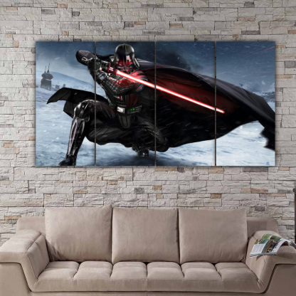 4 Panels Darth Vader of Star Wars Multi Canvas Art