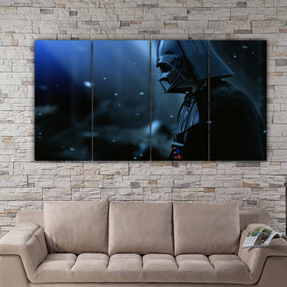 4 Panels Darth Vader on a Star Multi Canvas Art