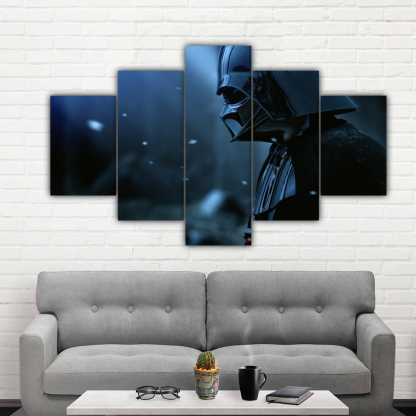 5 Panels Darth Vader on a Star Multi Canvas Art
