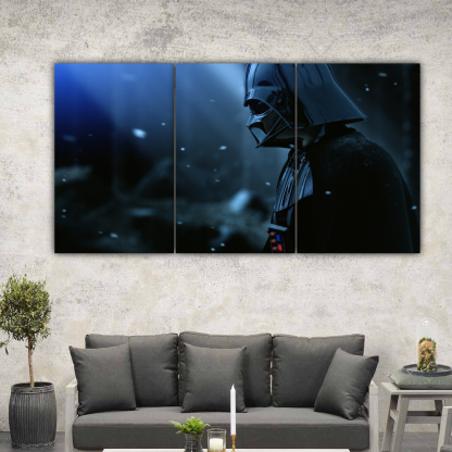 3 Panels Darth Vader on a Star Multi Canvas Art