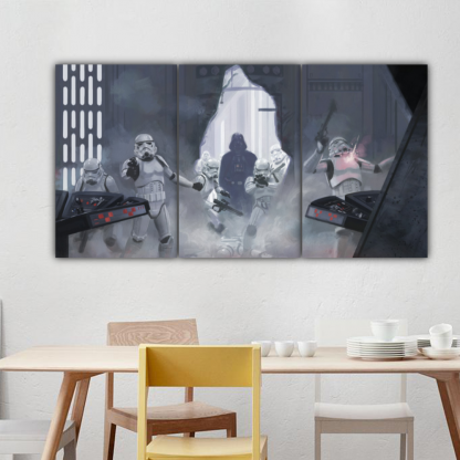 3 Panels Darth Vader Multi Canvas Art
