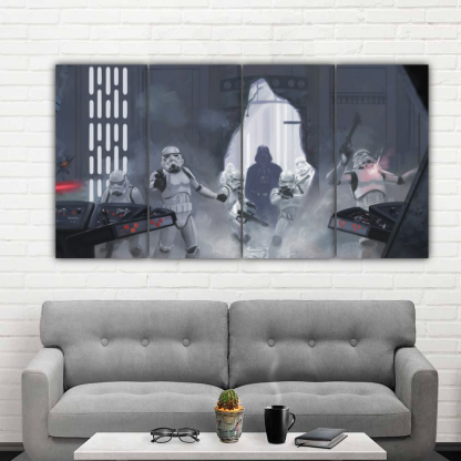 4 Panels Darth Vader Multi Canvas Art