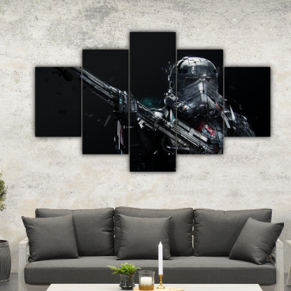 5 Panels Deathtrooper Multi Canvas Art