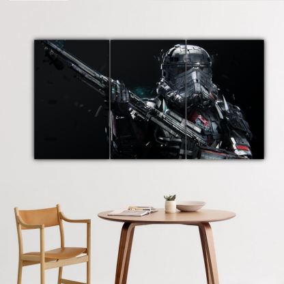 3 Panels Deathtrooper Multi Canvas Art