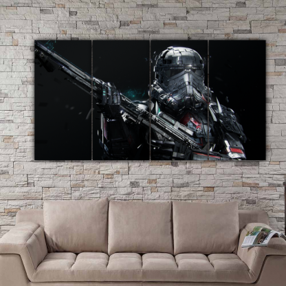 4 Panels Deathtrooper Multi Canvas Art