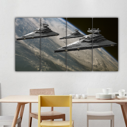 4 Panels Destroyers Of The Empire Multi Canvas Art