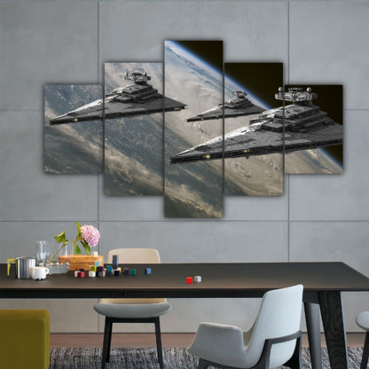 5 Panels Destroyers Of The Empire Multi Canvas Art