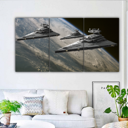 3 Panels Destroyers Of The Empire Multi Canvas Art
