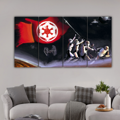 4 Panels Dominance Of Galactic Empire Multi Canvas Art