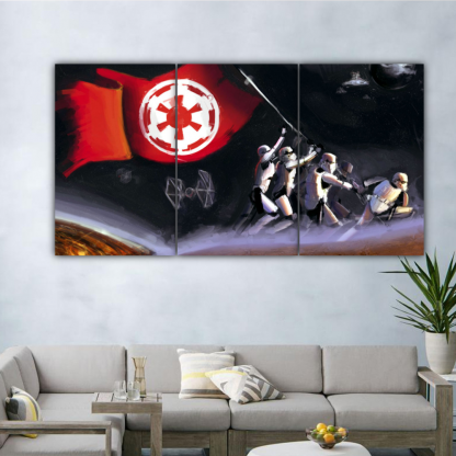 3 Panels Dominance Of Galactic Empire Multi Canvas Art