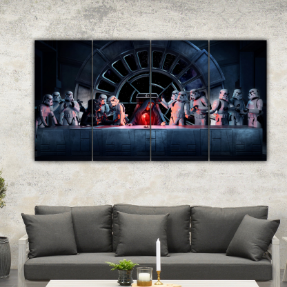 4 Panels Father of Vader Multi Canvas Art