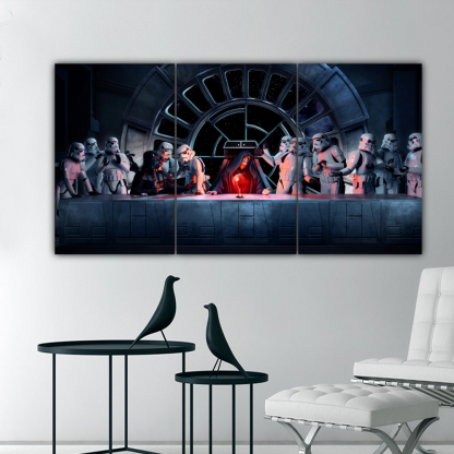 3 Panels Father of Vader Multi Canvas Art