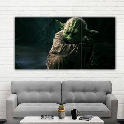 3 Panels Force Of Yoda Multi Canvas Art