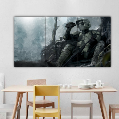 3 Panels Forest Trooper Multi Canvas Art