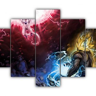 5 Panels Goku Vs Frieza Multi Canvas Art