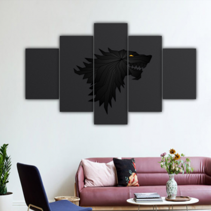 5 Panels House Stark Multi Canvas Art