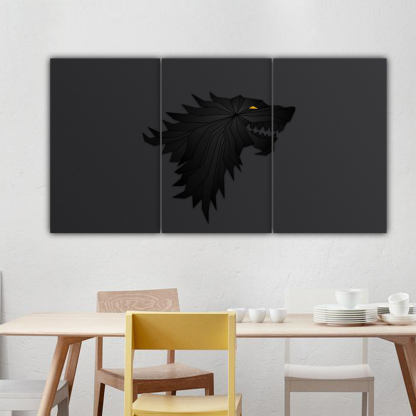 3 Panels House Stark Multi Canvas Art