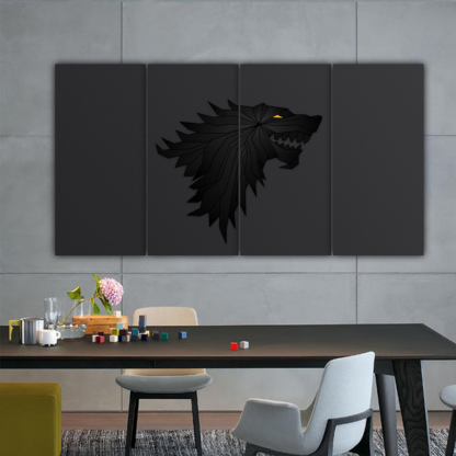 4 Panels House Stark Multi Canvas Art