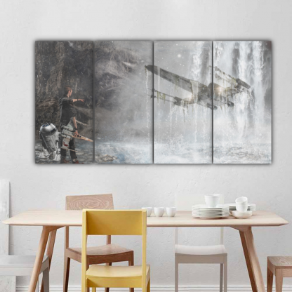 4 Panels Imagination of The Force Multi Canvas Art