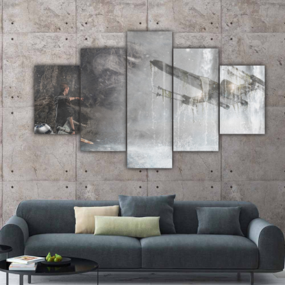 5 Panels Imagination of The Force Multi Canvas Art
