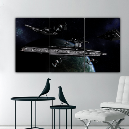3 Panels Imperial Cruisers Multi Canvas Art