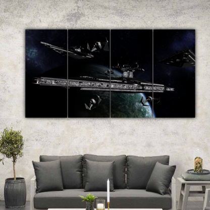 4 Panels Imperial Cruisers Multi Canvas Art