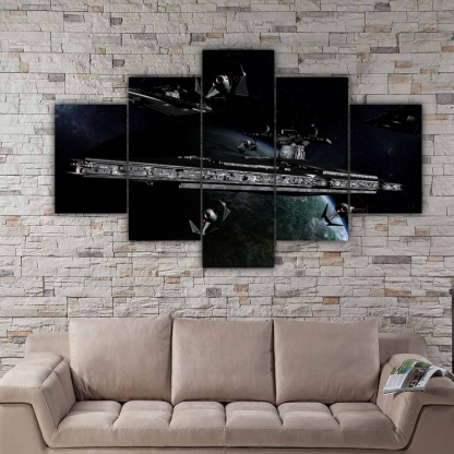 5 Panels Imperial Cruisers Multi Canvas Art