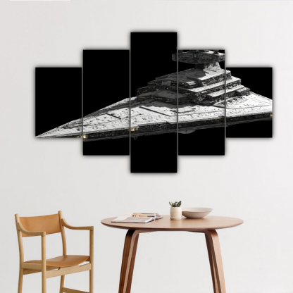 5 Panels Imperial I Class Star Destroyer Multi Canvas Art