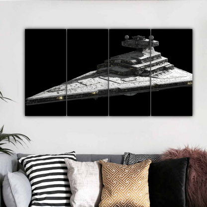4 Panels Imperial I Class Star Destroyer Multi Canvas Art